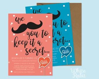 Printable Shhhhh it's a Secret Party Invitation