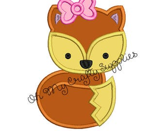 Fox Applique Embroidery Design