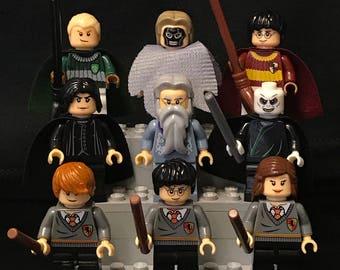 9x Harry Potter Minifigure Set Custom Minifigures