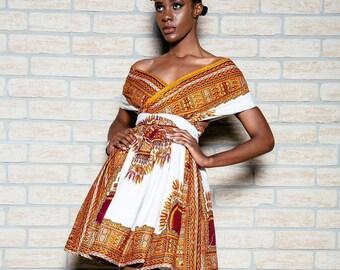 African Ladies Prom Dress Dashiki dress,, African Clothing, African Wax Print. Gown, Dashiki, African ladies wear,African wear,Africanskirt