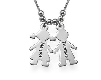 Personalized  Customized Engrave Pendant  Happy Kids
