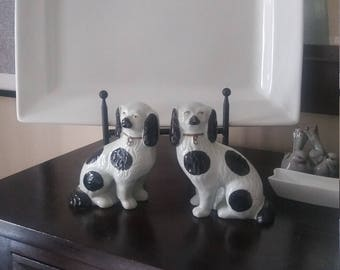 Vintage Mid Century Modern Art Deco/Nouveau Stafford Shire Dogs Free Shipping