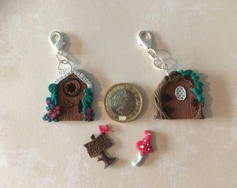 Fairy doors, charms, keyrings.