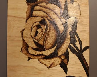 rose wood burning