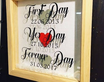 Stunning wedding frame. First Day, Yes Day, Forever Day.