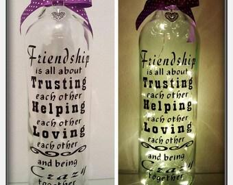 Friendship LED Light Up Bottle Unique Gift