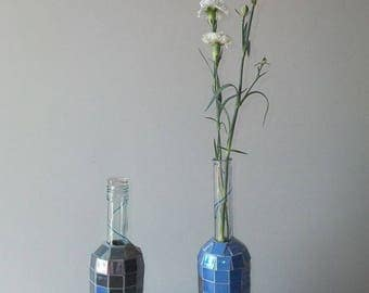 Couple of bottles mosaic vase