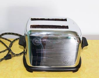 Retro Small Chrome Toaster by Toastmaster 1950s