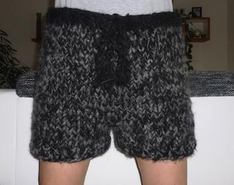 Mohair shorts pants