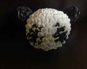 Panda Stress Ball- Rainbow Loom Loomigurumi