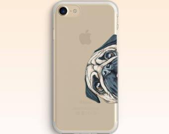 Pug iPhone 8 Case Pug Dog iPhone 7 Case For Samsung S8 Case iPhone 7 Plus Case iPhone Cute Puppy Case iPhone 5s Case Clear for S6 Case 060