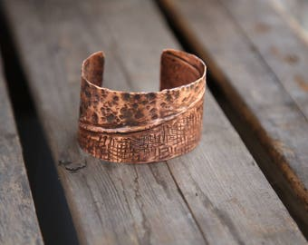 Hand made Copper Cuff.