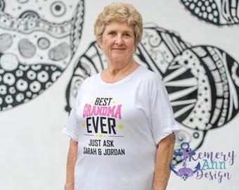 Best Grandma Ever, Customized Grandma Shirt, Best Nana Ever Shirt, Personalized Grandma Shirt, Amazing Grandma Shirt
