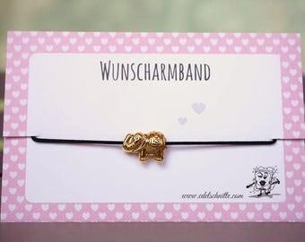 Desire bracelet * elephant * gold