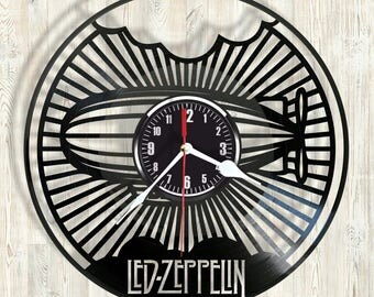 Led Zeppelin  vinyl record wal clock  best eco-friendly gift for any occasion