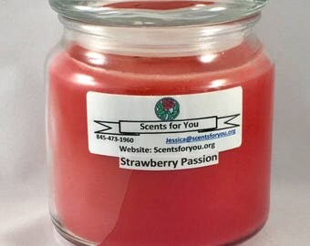 Strawberry Passion Large Candle