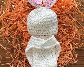 Bunny diaper set
