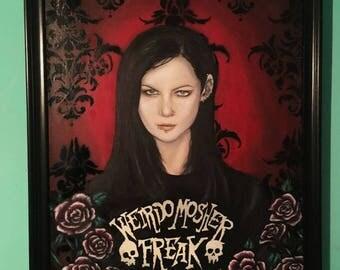 Sophie Lancaster Portrait- Oil on Canvas  Gothic Art