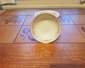 Rose Garland Fine Porcelain Fiesta International dessert bowls x 6