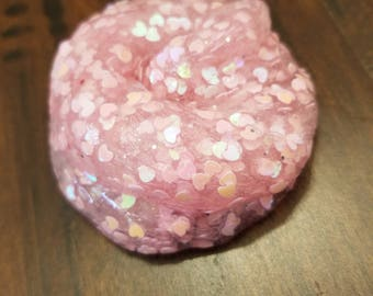 Pink heart slime