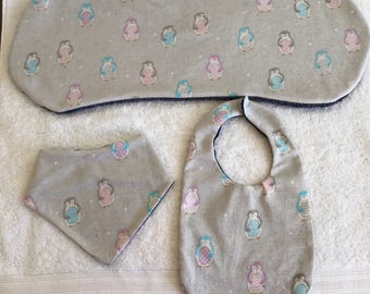 Burp cloth and Bib set