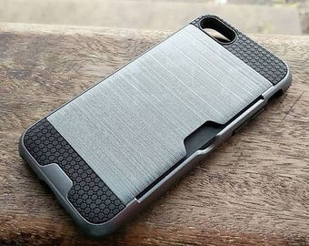 Vintage Iphone 7 TPU Phone Case with Added Card Slot