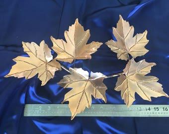 """18"""" Copper Maple Leaf Spray"""