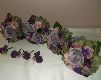 Pre Made Lilac/Pink/Purple Wedding Bouquets