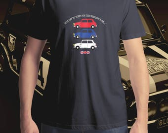 Italian Job Movie T-Shirt, Men's T-Shirt, Women's T-Shirt, Mini T-Shirt, Classic Car T-Shirt, 'Just off to Turin for the Weekend Love...'