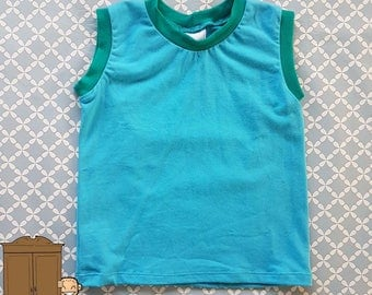On sale!  Blue toddler vest / Tank