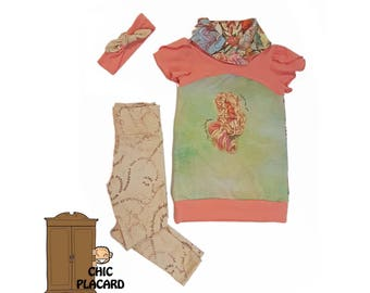 Tunic / Dress for a princess with its leggings and headband