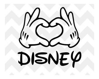 Mickey Heart Hands SVG | Mickey Mouse Disney SVG | Disney SVG | Mickey Heart Silhouette Cricut |Disney svg cut file | Disney Heart Hands svg