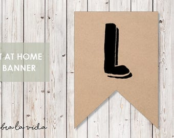 DIY Banner - 'L'. Instant Download. Printable Banner Letters. - 02