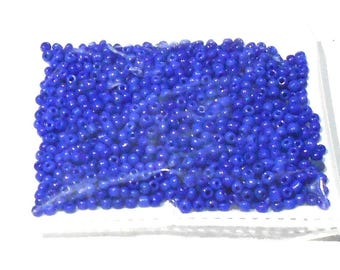 Goelx Seed Beads Multicolor/Choose Color Glass Beads For Jewellery Making,Craftworks,Diy Projects - Blue