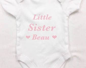 Little brother sister cousin body suit any name