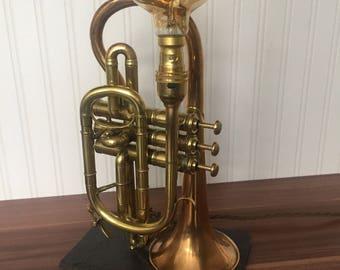 Upcycled Trumpet / Cornet light