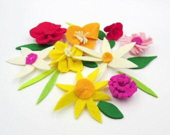 Felt Flowers. Flower Appliques. Felt Flower Collection