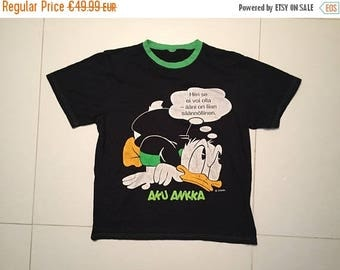 LAST DAY 35% OFF Donald Duck vintage t shirt made in Europe 80s - Size L