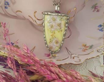 Broken Glass Flower Pendant