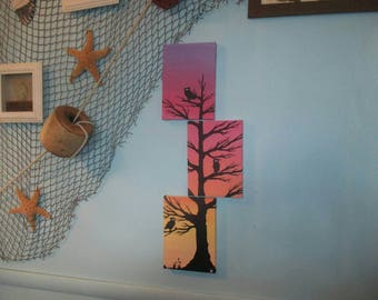 Family Tree - Original Acrylic Painting Set on 5x7 Stretched Canvas'.