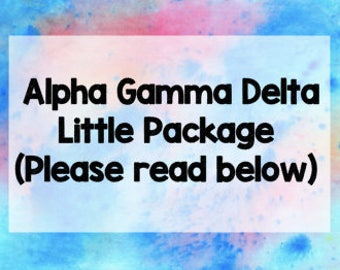 Alpha Gamma Delta Little Set