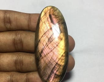 ON SALE Natural  Purple Fire Labradorite  Cabochon Shape- Oval Size-63x27x6 MM Wt- 80.55 Ct #481