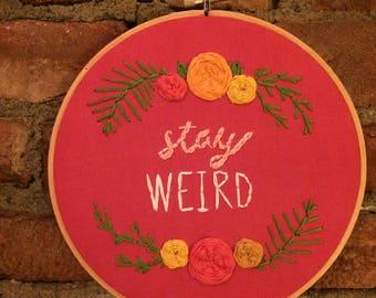 Custom Order | hand embroidery hoop art