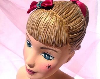 BAMBOLA PORTAGIOIE in papier mâché - Jewelry doll in papier mâché - Presentoir d'exposition pour bijoux
