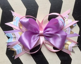 Summer Creamcicle Bow