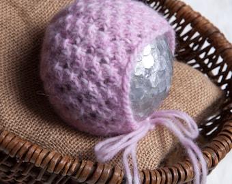 Brittany Newborn Bonnet Pattern, Knit PDF Pattern, Newborn Hat Pattern, PHOTO shoot prop, Knit, Worsted Weight 4, PDF, Newborn hat