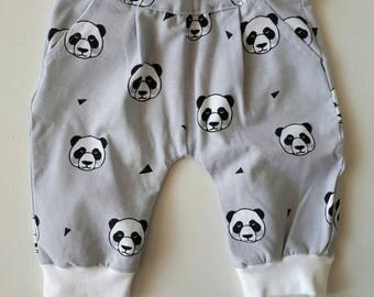 Hip and unique baby harem pants for a b baby leggings jersey pants, side pockets panda. Size 56