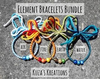 Element Bracelets Bundle | Fire Water Earth Air