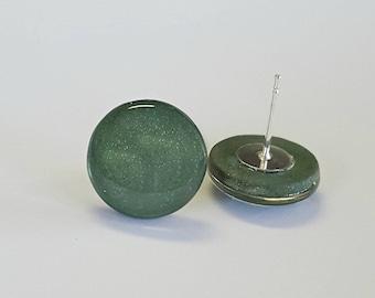 Sage Green shimmer studs