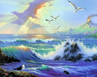 Rough Seas After the Storm Cross Stitch Pattern